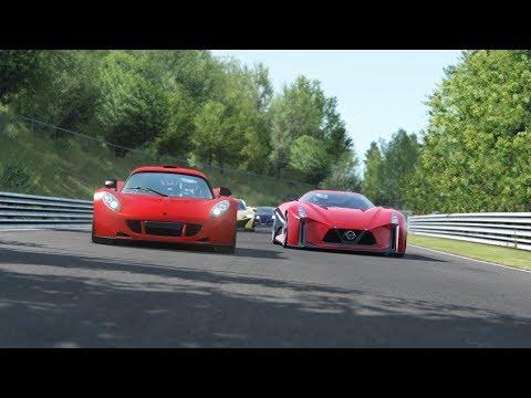 Nissan 2020 Vision GT vs Hennessey Venom GT vs Bugatti vs McLaren P1