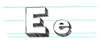 How to Draw 3D Letters E - Uppercase E and Lowercase e in 90 Seconds