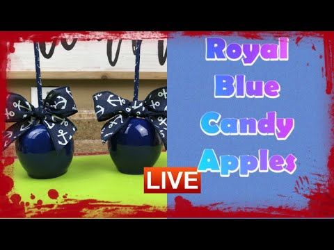 How To Achieve Royal Blue Candy Apples