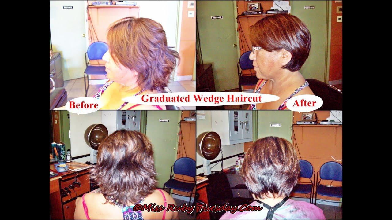 Miss Ruby Tuesday Graduated Wedge Haircut Short Bob Youtube