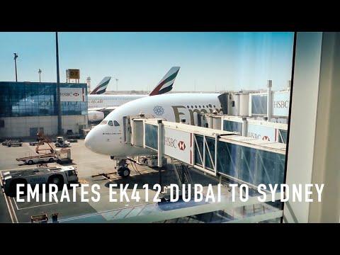 TRIP REPORT: Emirates EK412 Airbus A380 Dubai to Sydney