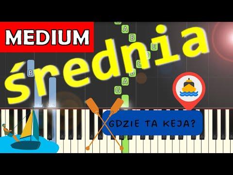 🎹 Gdzie ta keja - Piano Tutorial (średnia wersja) 🎹