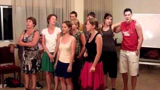 "French Group Singing ""Vent frais, vent du matin"""