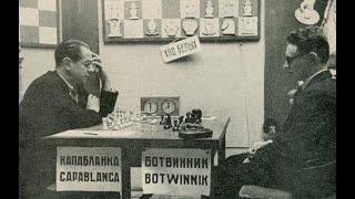 Шахматы. ЛЕГЕНДАРНАЯ ПАРТИЯ Михаила Ботвинника и Хосе Рауля Капабланки! ШЕДЕВР ПОЗИЦИОННОЙ ИГРЫ!