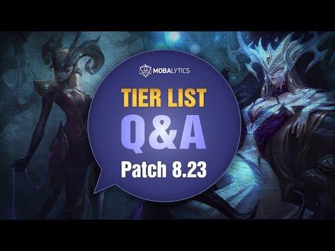 League of Legends Mobalytics Patch 8.23 Tier List Q&A
