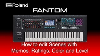 Roland - How to edit Scenes with  Memos, Ratings, Color and Level