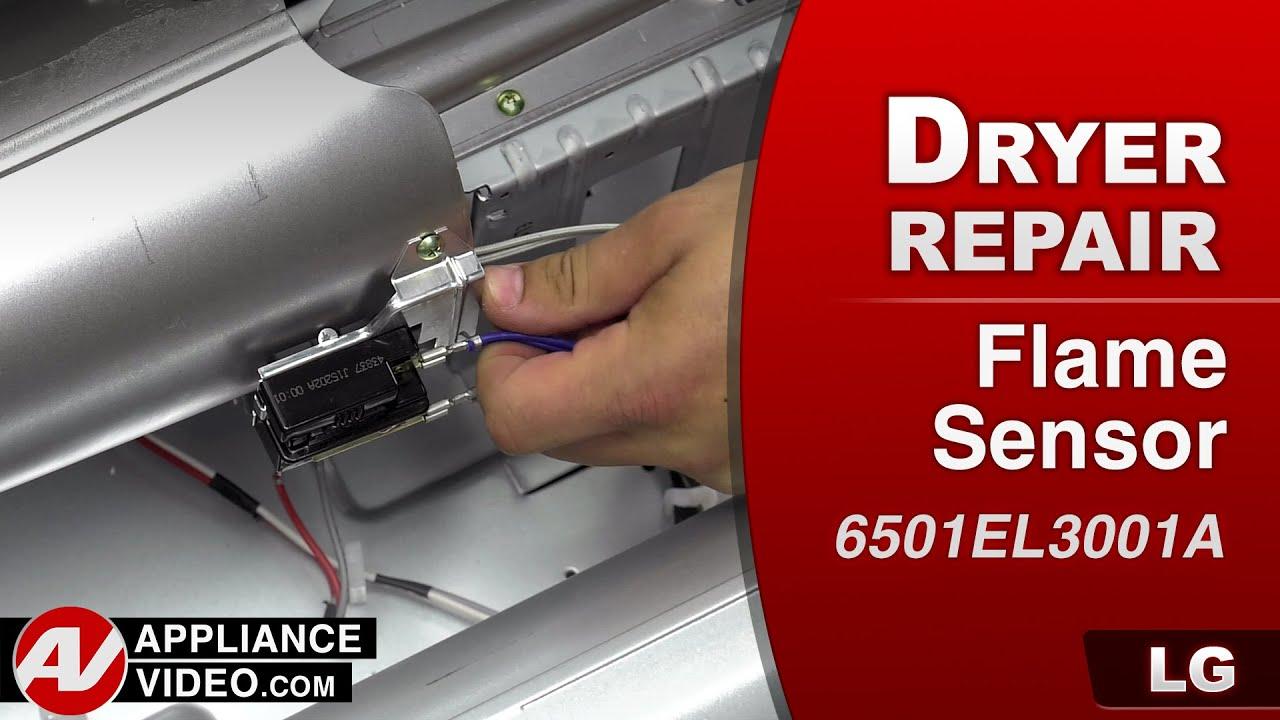 Lg Dryer Repair >> LG - Gas Dryer – Not heating – Flame Sensor repair - YouTube