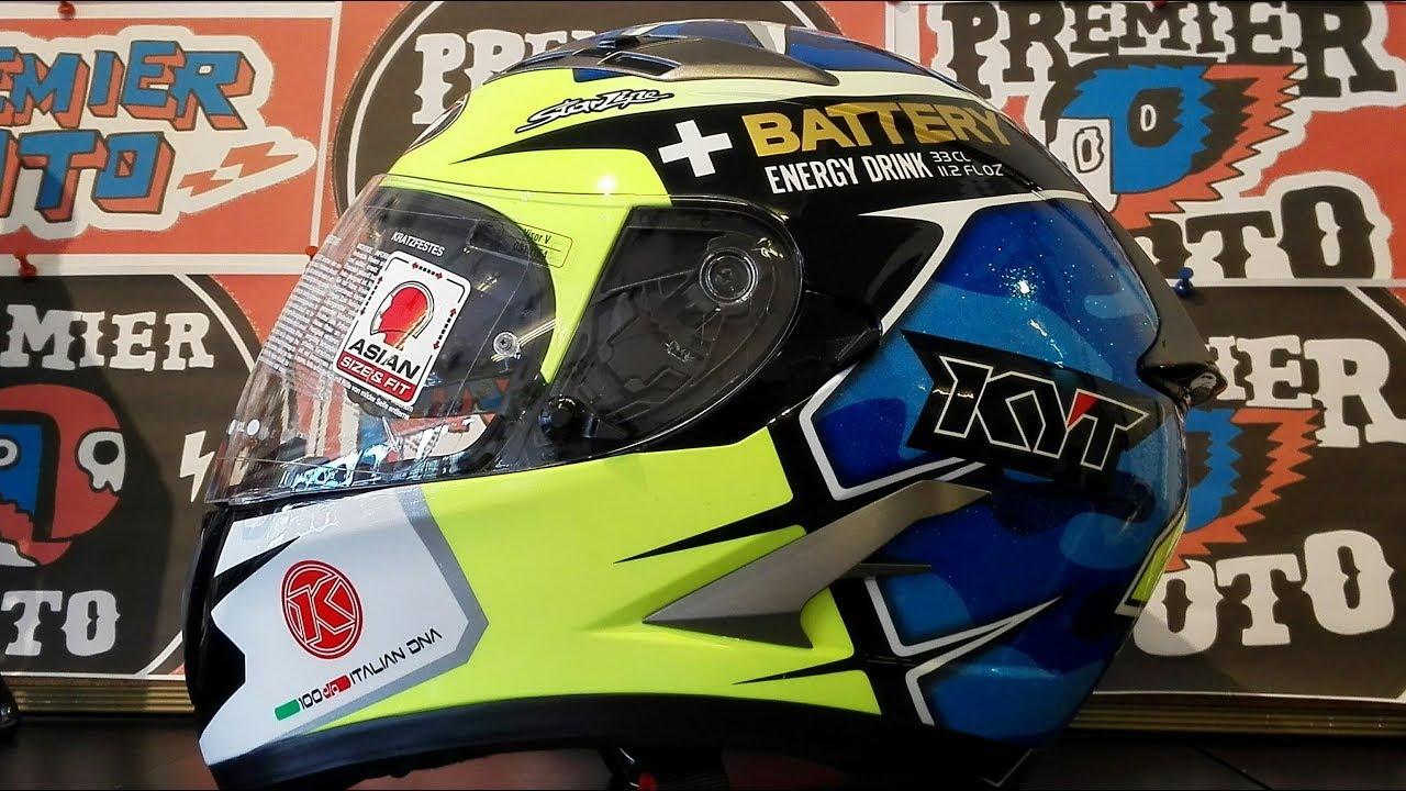 f5212667ced2ac KYT FALCON REPLICA ESP BLUE รีวิว by Premier Moto in Thailand - YouTube