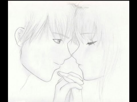 Dibujando una pareja (Dibujo Anime) - YouTube