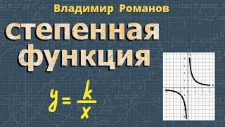 алгебра СТЕПЕННАЯ ФУНКЦИЯ видеоурок