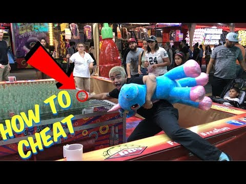 How To Cheat At Carnival Games | OC FAIR | GIVEAWAY!!