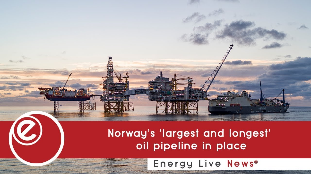 Norway's 'largest and longest' oil pipeline in place