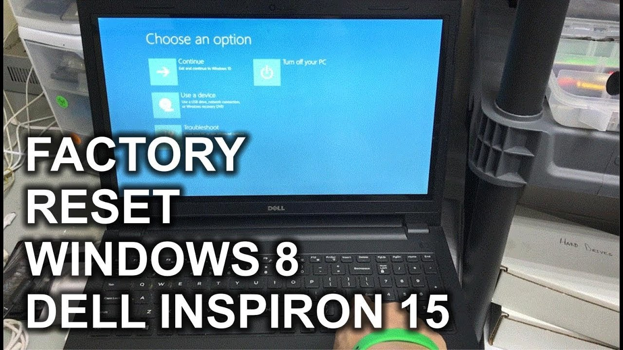 dell computer factory reset windows 8