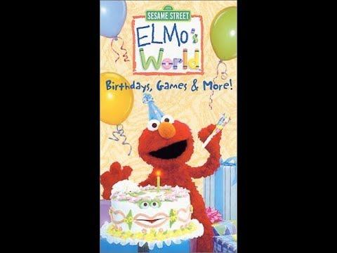 Download Elmo's World: Birthdays, Games & More (2001 VHS)
