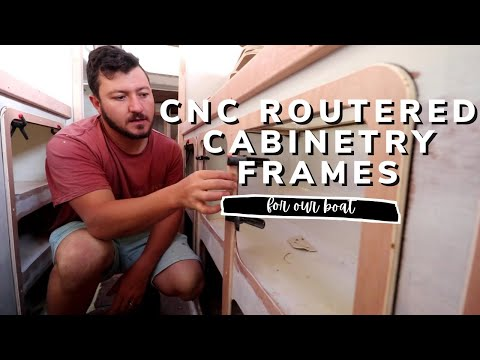 CNC routering cabinetry trimmings [Yacht Refit & Restoration Week 21] (Ep.27)