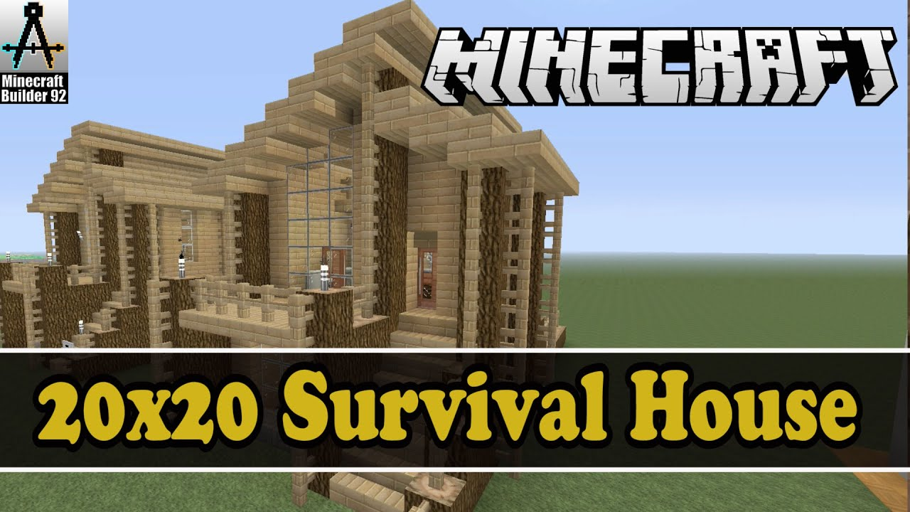 Let 39 s build a 20x20 lot survival house youtube for 20x20 house