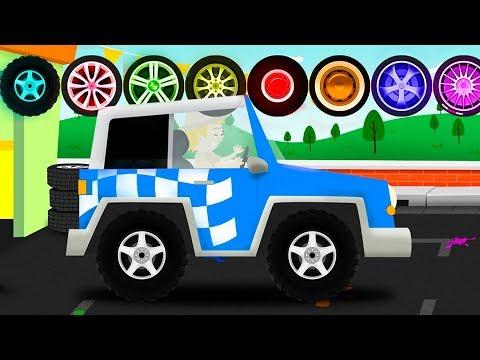 Мультики про машинки - Мойка машин для детей. Новый развивающий мультфильм для малышей.