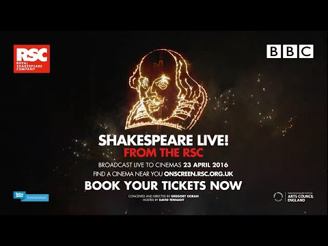 Shakespeare Live! From The RSC Official Cinema Trailer