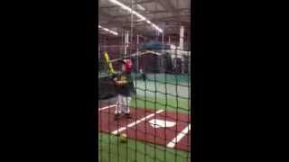4 year old batting @ cages