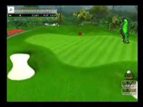 話題のゴルフシミュレーター(プレイ画像)
