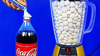 15 AWESOME COCA COLA AND MENTOS TRICKS!
