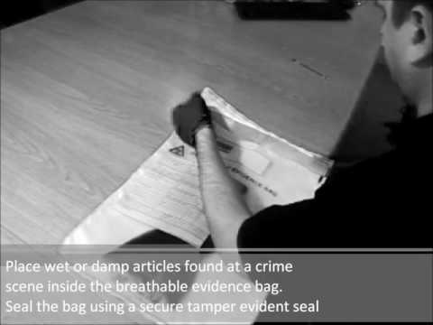 Breathable Evidence Bags for damp or wet articles