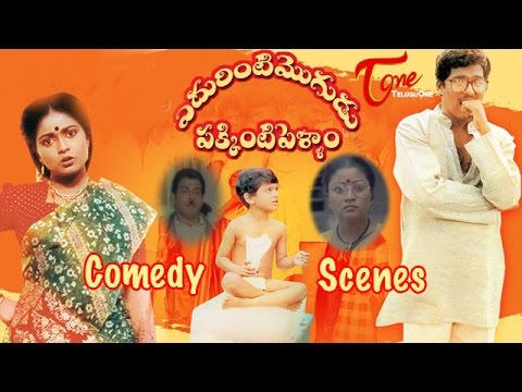 Edurinti Mogudu Pakkinti Pellam  Movie Comedy Scenes    Back to Back    Rajendra Prasad    Divyavani