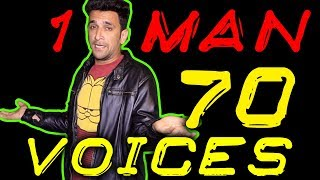 1 MAN 70 VOICES || SHEHBAAZ KHAN AMAZING MIMICRY