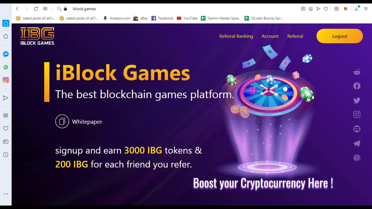 IBLOCK GAMES|The best Blockchain games platform|Signup and earn 3000 IBG Tokens & Join Bounty 6