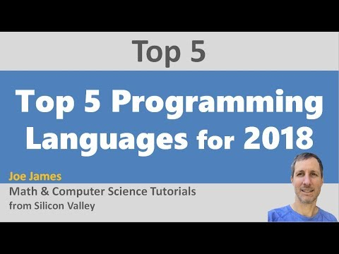 Top 5 Programming Languages for 2018