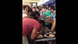 Anthony Winning The Lamington Competition