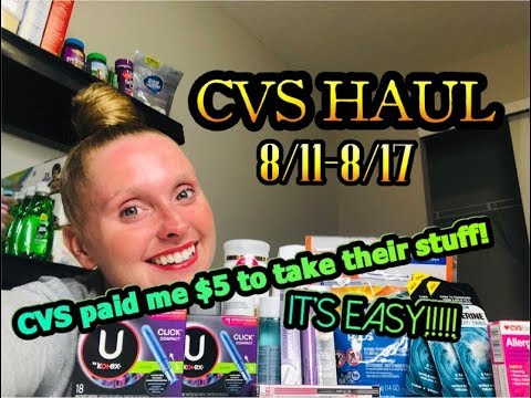 CVS HAUL 8/11-8/17 ~ CVS PAID ME $5 TO TAKE THEIR STUFF!!! CRAZY MONEYMAKERS!!!