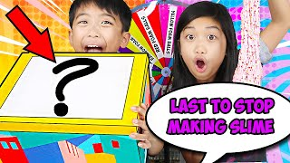 LAST To Stop Making SLIME Wins The Mystery Box! Best Kids Slime Challenge | JK Slime