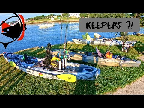 KAYAK Fishing The JETTY At Rudee Inlet!!