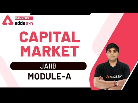 Capital Market Explained   JAIIB 2020 Video Lectures by Adda247