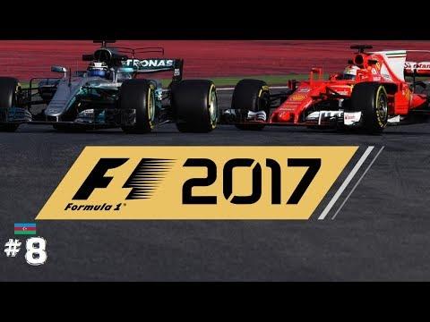 F1 2017 COOP 👥 // R08: AZERBAJDZSAN GP 🇦🇿 // FERRARI vs MERCEDES with AMG // #8