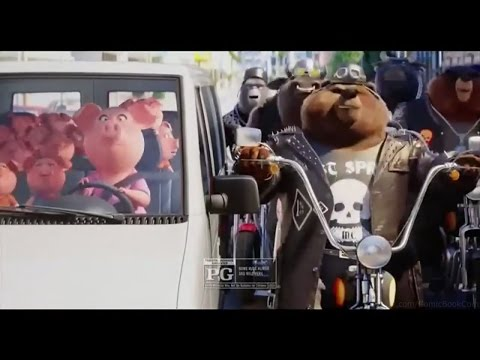 SING Moive Trailer Mini Spot #1 - Eye Of The Tiger It Here With Bear Gangster Mp3