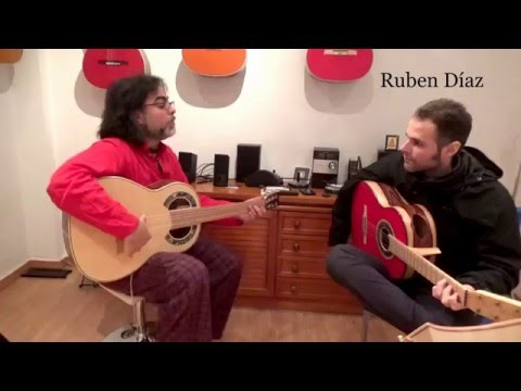 Training (2) melody over chords /Learning modern flamenco guitar online / Ruben Diaz Spain / CFG