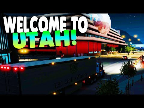 American Truck Simulator - WELCOME TO SALT LAKE CITY - UTAH! - ATS / American Truck Gameplay