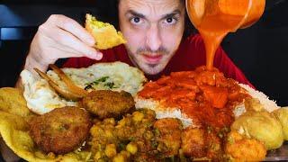 Download INDIAN FOOD FEAST Mukbang! Chicken Tikka, Samosa, Poori, Naan, Aloo   Nomnomsammieboy