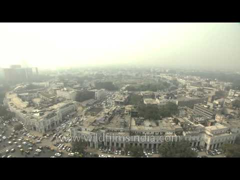 Aerial view of Connaught Place, New Delhi