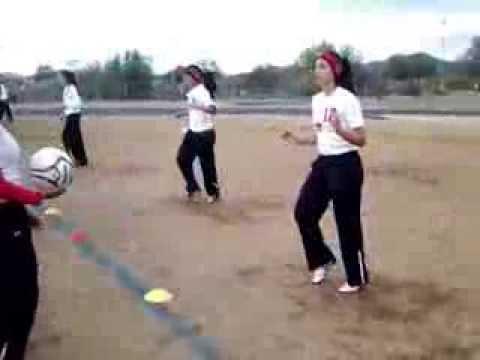 Historic state - girls pregame warmup