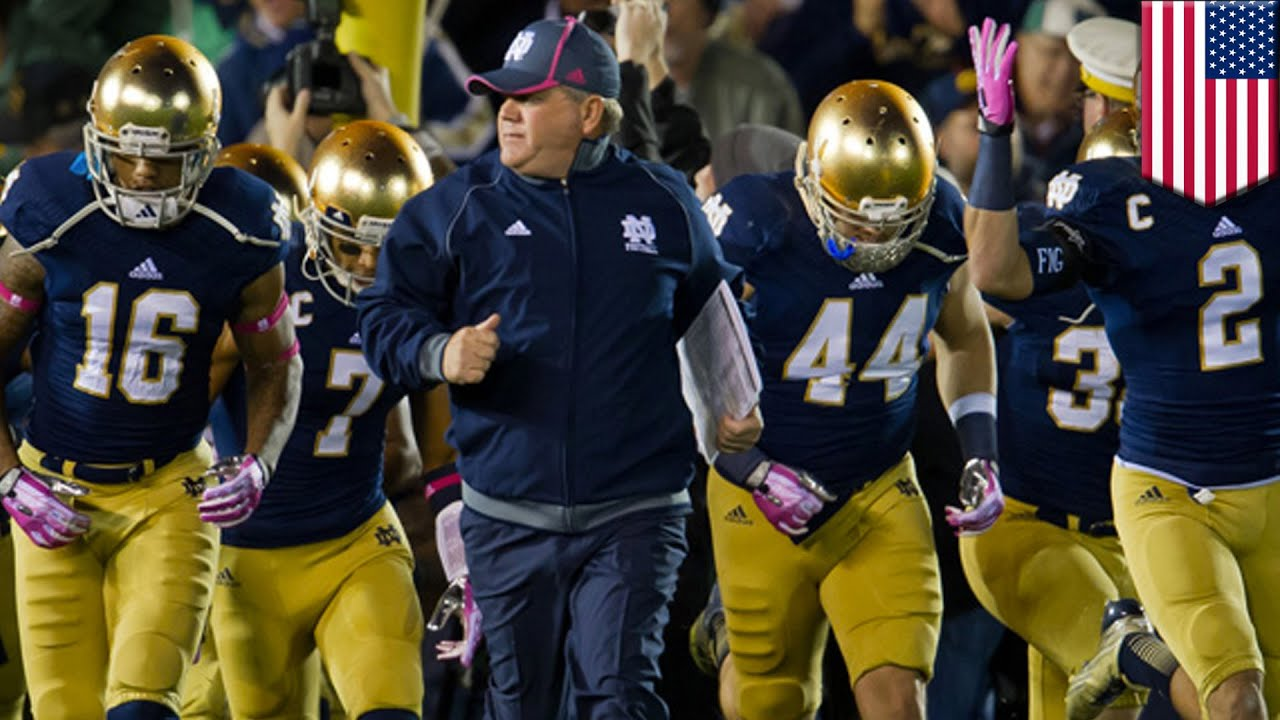 Notre dame football players at risk coach kelly says entire team at