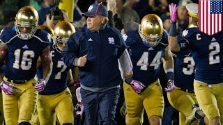 Notre Dame football players at-risk: Coach Kelly says entire team at-risk academically - TomoNews
