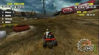ATV Offroad Fury Pro Sony PSP Gameplay - Wrangling hills