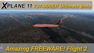 X-plane 11: Freeware Boeing 737-900ER Ultimate  - KPDX to CYVR