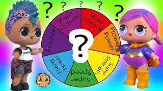 Spin The Mystery Rainbow Wheel for Extreme Super Power - LOL Surprise Challenge Game
