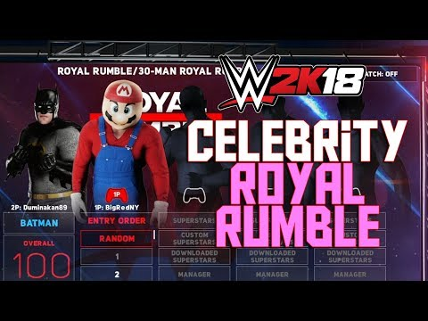 WWE 2K18 - 30 Man Celebrity Royal Rumble (WWE 2K18 Royal Rumble Full Match Funny Gameplay)