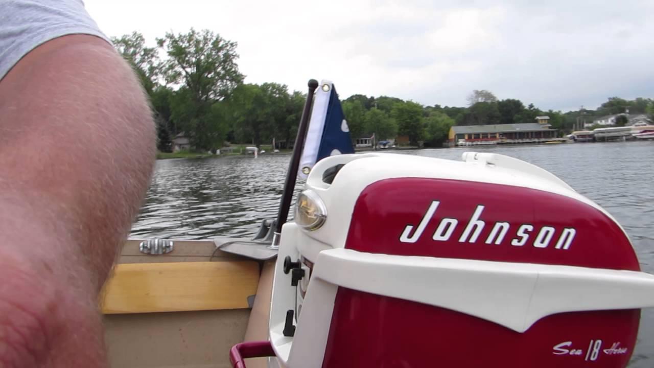1957 johnson 18hp outboard motor youtube rh youtube com 1957 Johnson Seahorse 18 Parts 1957 Johnson 18 HP Outboard