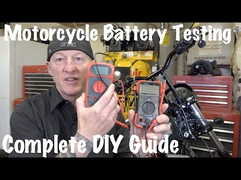 How to Test Motorcycle Battery & Charging System-Multimeter or Voltmeter | DIY